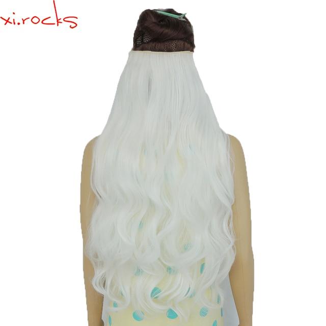 2 Piece Xicks 5 Clip In Hair Extension 70cm Synthetic Hair Clips
