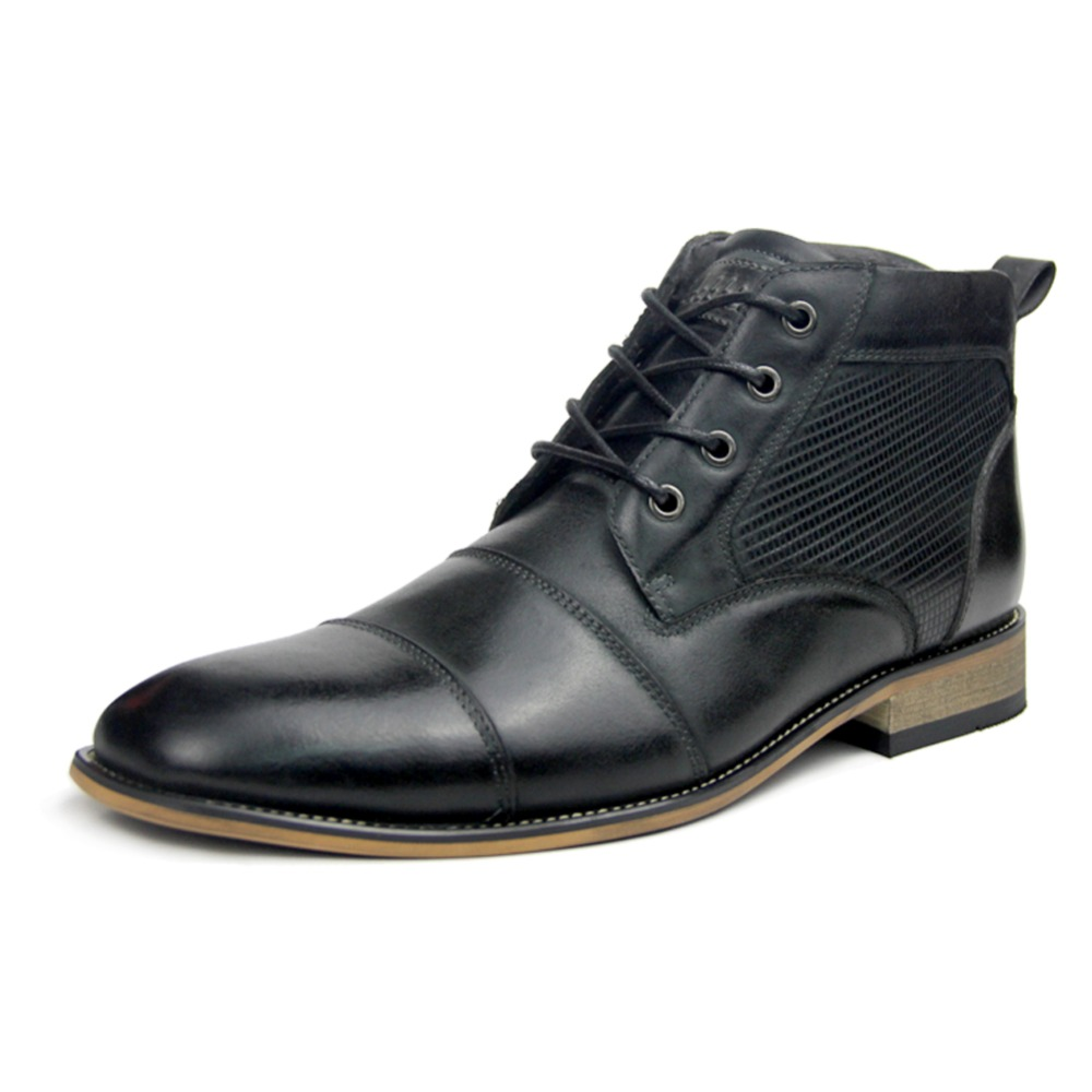 OTTO men boots genuine leather Italian black luxury fashion casual ankle boots men shoes male for