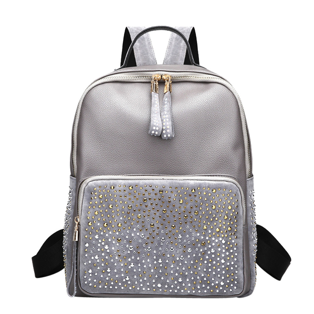 Ocardian Backpacks Fashion Rivet Backpack Female Backpack Schoolbags For Teenager Backpack Antitheft Jl 2650c