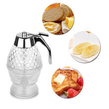 200ml Clear Honey Dispenser Acrylic Kitchen Holder Pot Container Juice Syrup Cup Portable Kettle Kitchen Tools Storage Drip Pot(China)