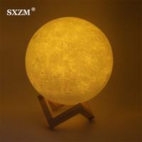 Sxzm ليلة الخفيفة 3d الطباعة القمر مصباح usb شحن القمرية ضوء الليل لمسة تحكم السطوع طبقتان 8 سنتيمتر 10 سنتيمتر 15 سنتيمتر 20 سنتيمتر