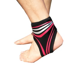 1 Piece Elastic Breathable Ankle Protector Sleeve Free Adjustable Sports Gym Brace Strap Sprain Prevent Foot Support Guard