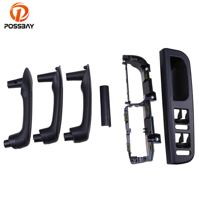 POSSBAY Black Car Door Window Switch Control Panel Trim Bezel + 3 Interior Door Grab Handle  sc 1 st  AliExpress.com & POSSBAY Black Car Door Window Switch Control Panel Trim Bezel + 3 ...