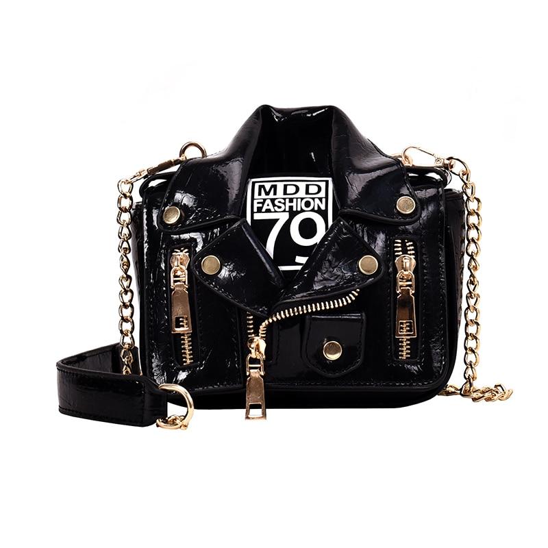 Luxury Handbags Women Bags Designer Cool Jacket Shaped Punk Motobike Style Shoulder Messenger Crossbody Bag For Women 2019