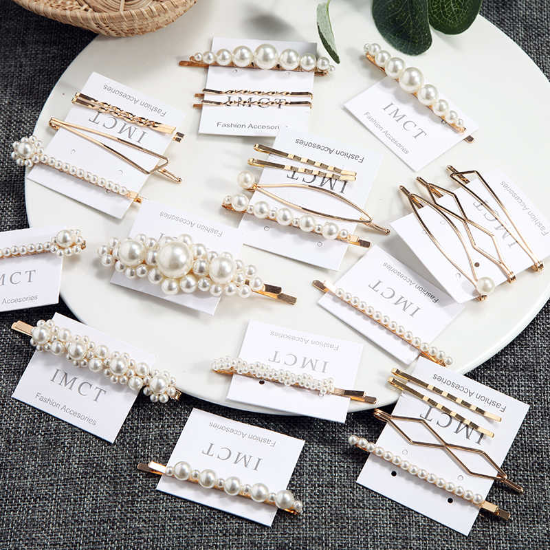 Fashion Jewelry Hairpins Alloy Vintage Retro Hair Ornaments Beads Cute Hair Clip For Wedding Accessories