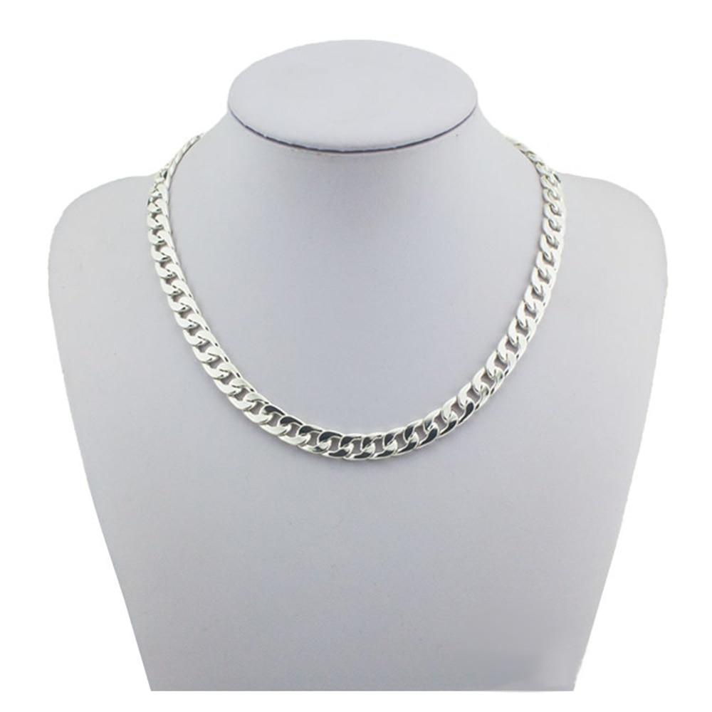Mode 925 sterling sølv smykker tykt tykt link kæde halskæde - Smykker - Foto 1