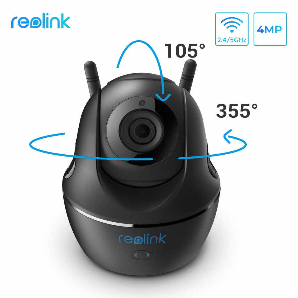 Reolink Видеоняни и радионяни панорамирования/наклона 2,4 г/5G Wi-Fi Камера 4MP Full HD видео наблюдения внутренняя безопасность жилища IP Камера C1 Pro