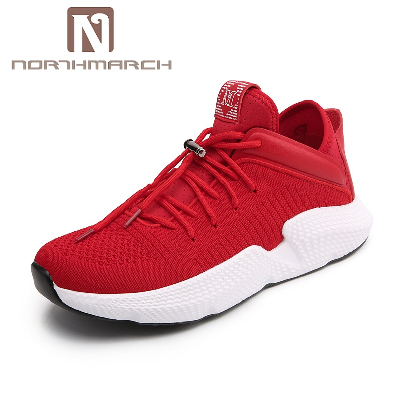NORTHMARCH Brand New Shoes Men Casual Sneakers Men Fashion Breathable Designer Shoes Lace Up Flats Man Shoes Zapatillas Hombre ege brand handmade genuine leather spring shoes lace up breathable men casual shoes new fashion designer red flat male shoes