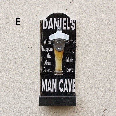 Bar tool American country style retro bar restaurant bottle openers wooden wall hanging opener crafts (3)