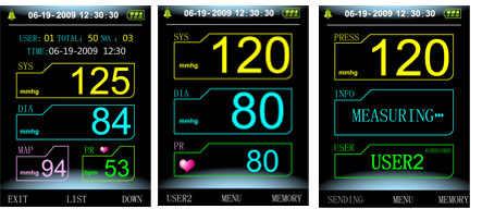 수의학 수의사 사용 디지털 혈압 모니터 CONTEC08A, NIBP + 커프 + 소프트웨어