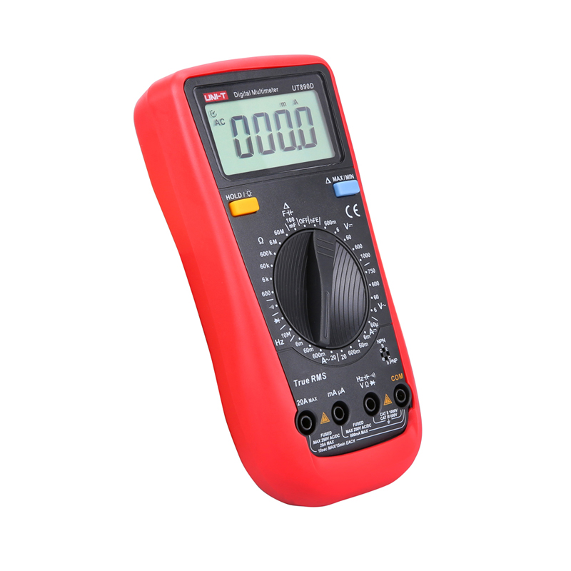 UT890D True RMS Digital Multimeter Ammeter Ohm Volt Tester Capacitance Frequency Universal Meter LCD Count 6000 MeterUNI-T 1 pcs mastech ms8269 digital auto ranging multimeter dmm test capacitance frequency worldwide store