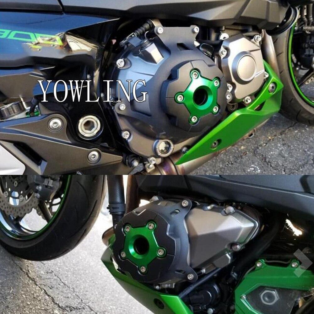 Pour Kawasaki Z800 Z 800 2013 2014 2015 2016 Moteur Stator Du Couvercle Du Moteur Garde Protection Côté Bouclier Protecteur Z750 2007 -2012