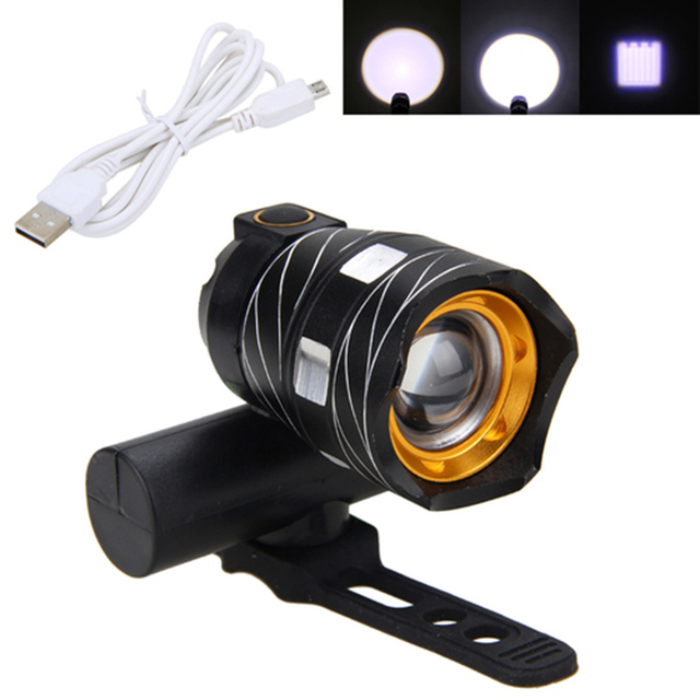Adjustable USB Bicycle Light 15000LM XM-L T6 LED Bike Light Head Lamp Torch With USB Rechargeable Built-in Battery