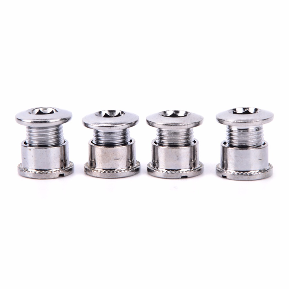 5PC Bicycle Folding Mountain Bike Double Disc Screw For Crank Chain Bolt Screw