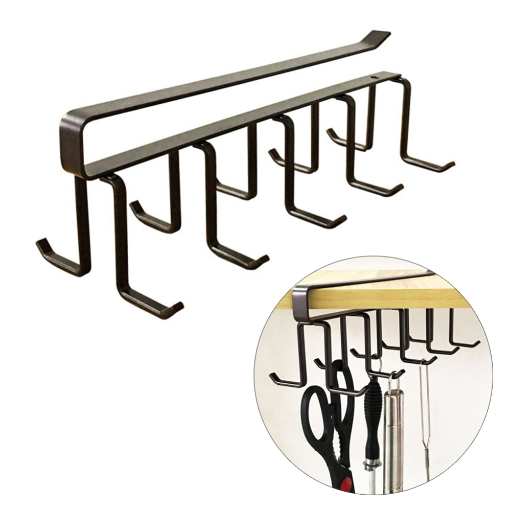 Kitchen Storage Rack Mug Holder Coffee Tea Cup Rack Kitchen Under Storage Shelf Cabinet Hanger