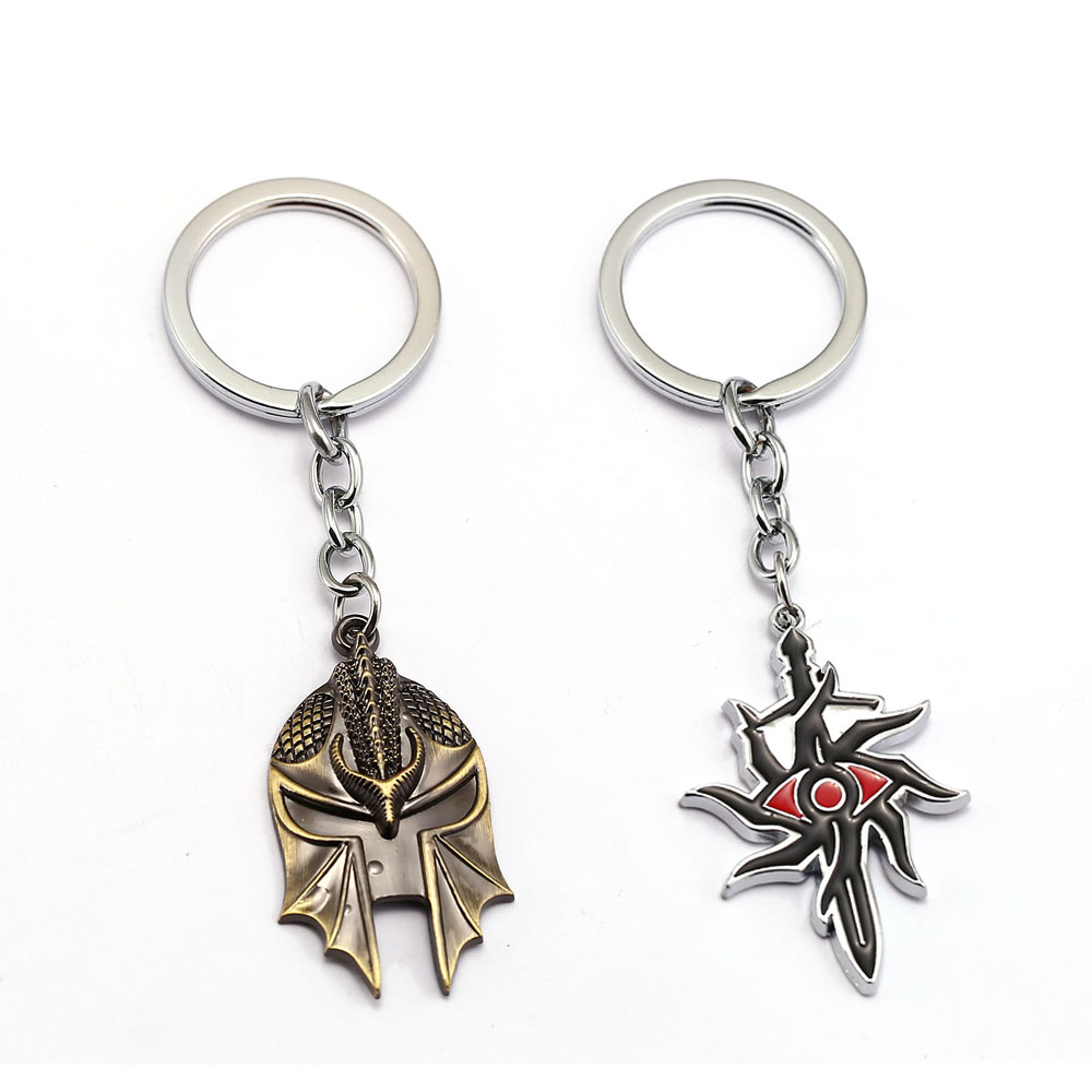 Dragons Age Inquisition Keychain PS4 game Key Ring Holder Chaveiro Key Chain Pendant men Gift Jewelry