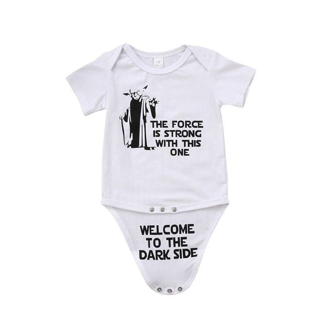 b9de15f39 Newborn Kids Baby Boy Girl Bodysuits Short Sleeve Funny Bodysuit ...