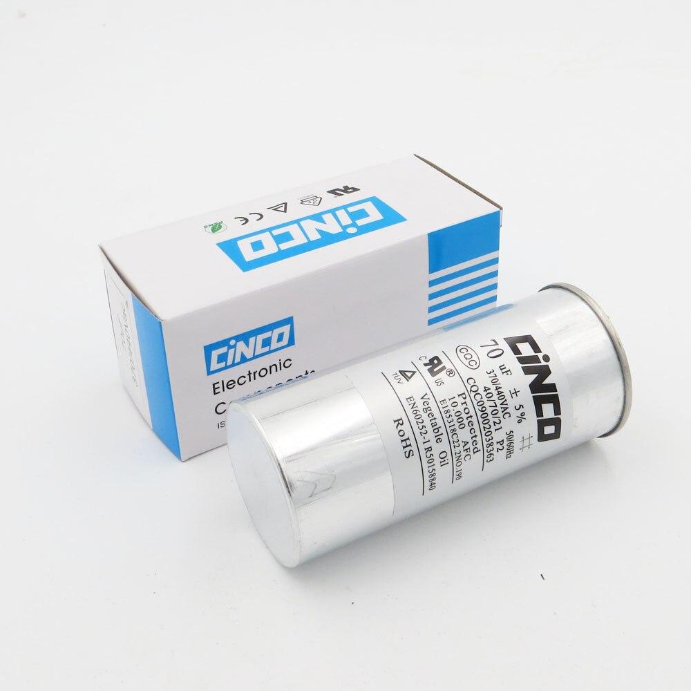 Home 70 Uf 370/440vac Run Kondensator Klimaanlage Kompressor Motor Start Kondensator Cbb65 Aluminium Können P2 Cbb65a-1 70mfd 70mf 450 V