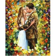 100% pintado a mano arte de pared Romantec KissLovers gran grupo de arte moderno pintura lienzo sin enmarcar pintura al óleo abstracta decoración para el hogar