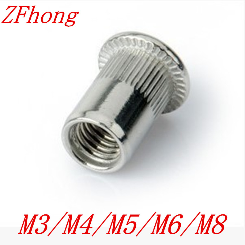 Rivet Nut M3 M4 M5 M6 M8 Flat Head Stainless steel insert rivet nut недорого
