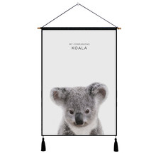 Cartoon Animal Elephant Hanging Painting Modern Abstract Nordic Posters And Prints Wall Pictures for Livingroom Home Decor