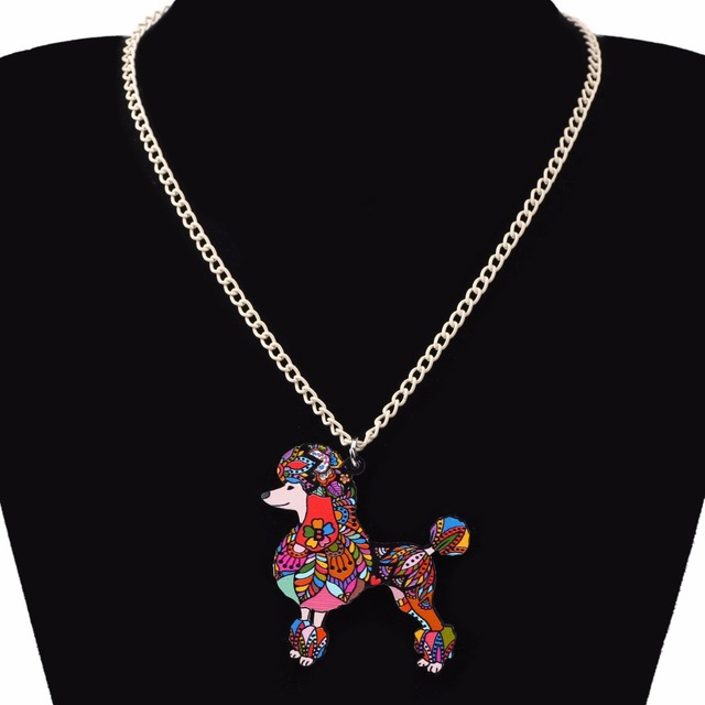 Creative Colorful Poodle Patterned Pendant