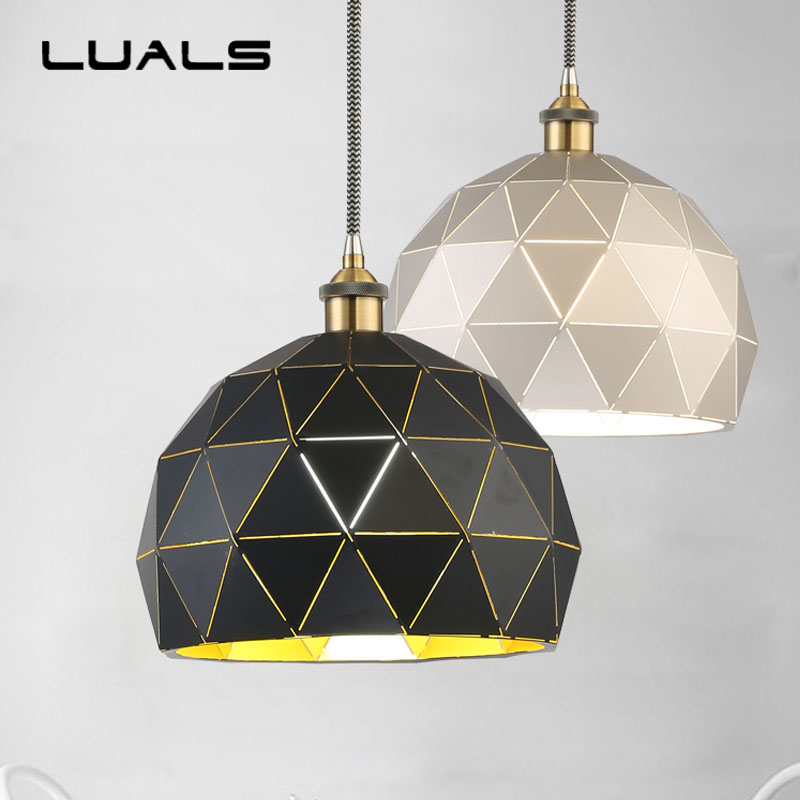 Nordic Lamp Suspension Luminaire Creative Wrought Iron Pendant Light For Restaurant Home Modern Led Lights Indoor Lighting hghomeart creative cartoon chandeliers led crystal chandelier kids room luminarias wrought iron lamp lustre suspension