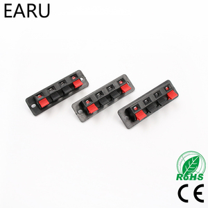 5pcs Hot Single Row 4 Pin 4 Position Speaker Terminal Board Connectors LED Aging Tester Scoket Plug Adapter