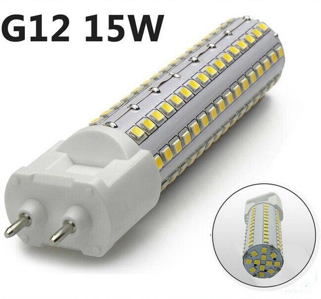 Бесплатная доставка Лидер продаж! Высокое качество <font><b>G12</b></font> Разъем 10 Вт 15 Вт 360 градусов SMD2835 теплый белый/холодный белый AC85-265V светодиодная лампа л&#8230;