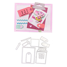 Julyarts Labels Tag Cutting Dies Metal DIY Scrapbooking Heart Farme Craft Die Set Indexes