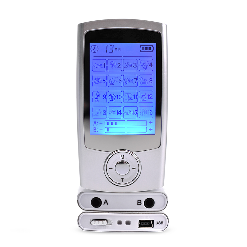 Smart 2in1 Electronic Pulse Massager 16 modes Dual Tens Acupuncture Digital Therapy Machine Body Relax Muscle Stimulator Device hot dual tens machine digital therapy massage body relax muscle stimulator electrode pulse acupuncure massager with 8modes