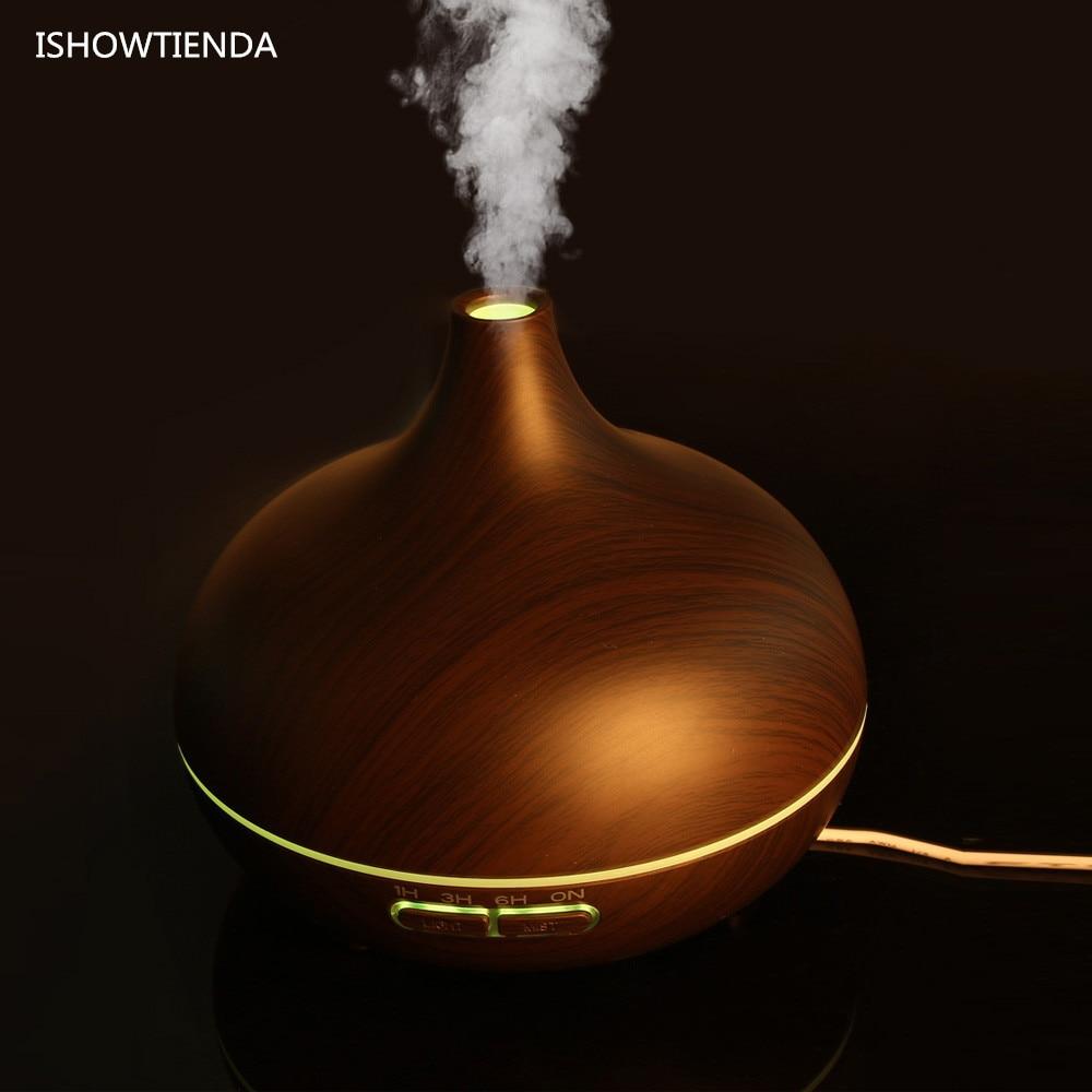 Nishowtienda Home Office Led Essential Oil Aroma Diffuser Ultrasonic Fogger Circuit Generator Circuits Ishowtienda Wooden Humidifier Air Aromatherapy Atomizer Luxury