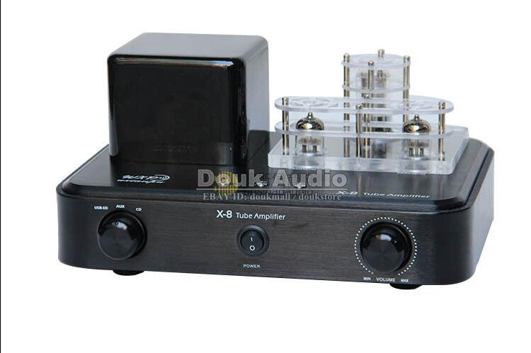 Douk Audio Integrated Vacuum Tube Amplifier Class A HiFi Power Amp USB DAC Lossless Decoder 110V~240V 2016 brand new appj pa1601a 6j1 6p4 hifi wifi vacuum tube amplifier desktop digital audio tube amp hi fi lossless music player