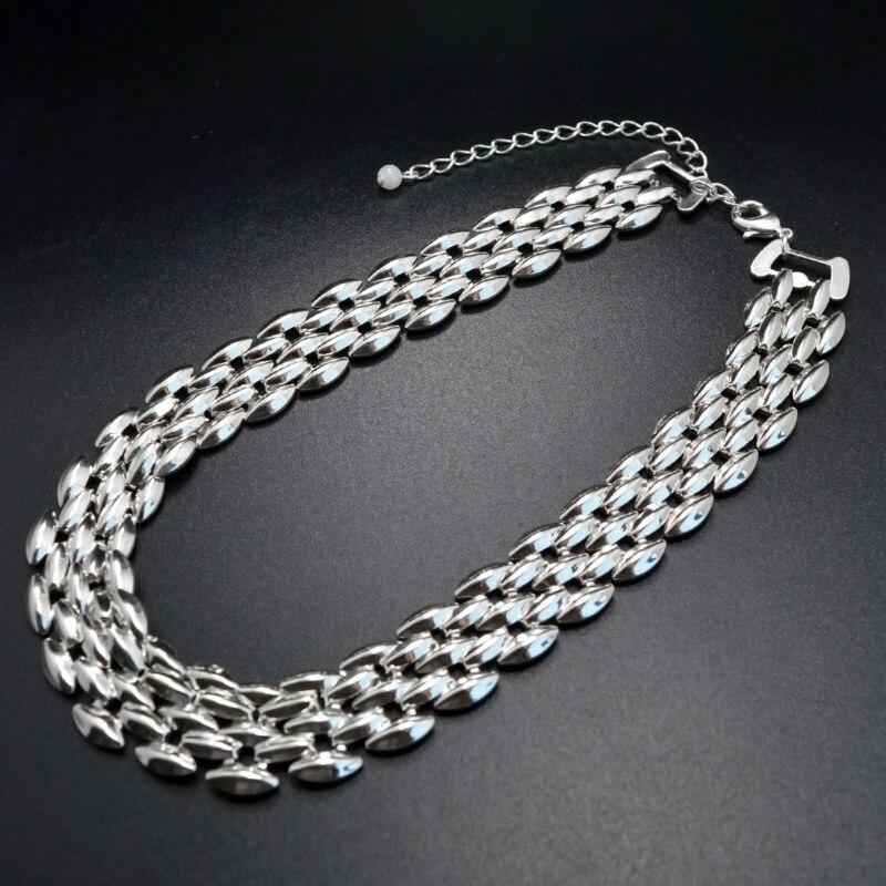 Leiiy Einfache Punk Stil Silber Überzogenes Metall Choker Halsketten ...