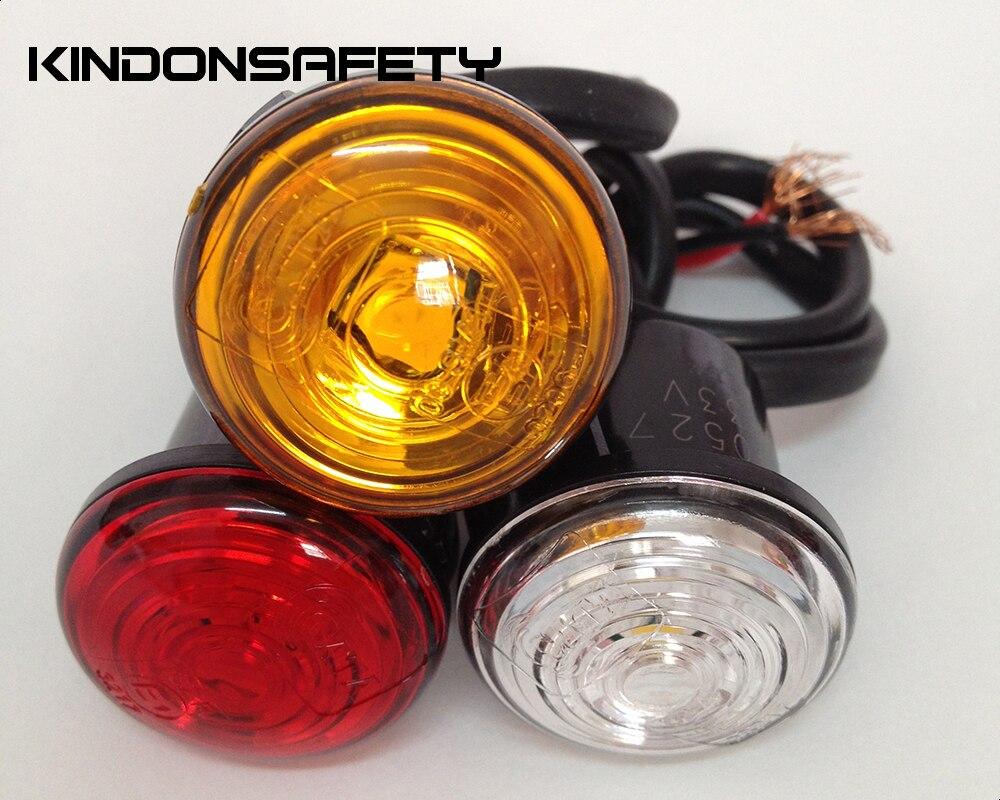 29 шт.! E-MARK одобренный светодиодный задний габаритный фонарь с 1 шт. SMT СВЕТОДИОДНЫЙ s может испускать красный светильник из оргстекла ПММА Красные линзы, DC9-33V