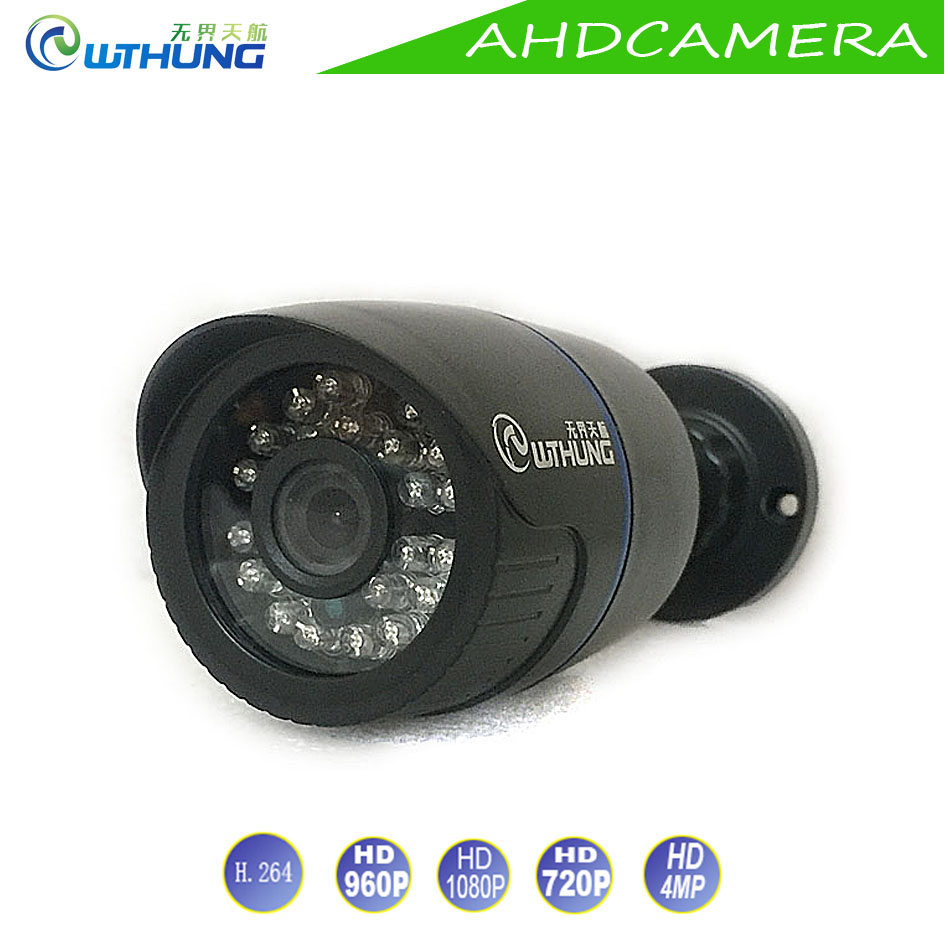 New AHD Camera 720P 960P 1080P 4MP Plastic ABS Bullet Waterproof IR Cut filter Night Vision For Security Camera Free shipping free shipping hot selling 720p 20m ir range plastic ir dome hd ahd camera wholesale and retail
