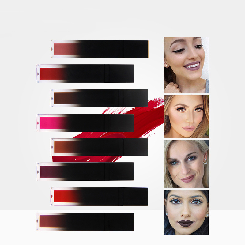 Sexy long lasting Waterproof Non stick Cup super sticky liquid lipstick color does not fade Lip Gloss Lipstick 2