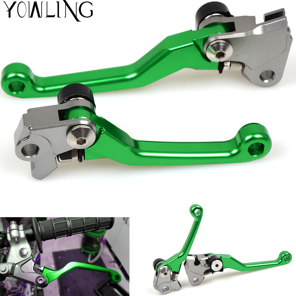 Dirt Bike Pivot Brake Clutch Levers hand grip Handbrake For Kawasaki KX250 KX 250 KX450F KX250F KDX250SR KDX125SR KX65