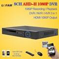 LOFAM HD CCTV DVR 8ch AHD 1080 P DVR de vigilancia NVR 8 canal AHD-H 1080 P HDMI independiente de seguridad 3G WIFI DVR grabadora de vídeo