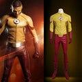 High Quality Custom Made Kid Flash Costume with Mask Kid Flash Yellow Costume Yellow Flash Costume