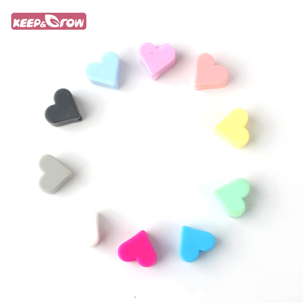 Keep&Grow 10pcs Lovely Star Silicone Beads BPA Free Baby Nursing Chewable Teething Beads Pacifier Teether DIY Necklace