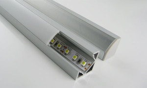 V-Shape Internal Width 12mm Corner Mounting LED Aluminum Channel with Opal Cover End Cap and Clip for Flex/Hard LED Strip Light