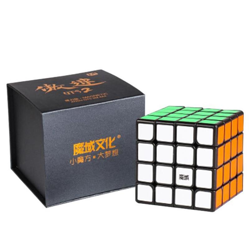D FantiX Moyu Aosu GTS2M 4x4x4 المكعب السحري المغناطيسي سرعة مكعب المهنية لغز ألعاب تعليمية للأطفال الكبار-في مكعبات سحرية من الألعاب والهوايات على  مجموعة 1