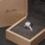 EDI Cuentos de Hadas de La Vendimia 0.5CT Moissanite Corte Redondo Rubí Anillo Enagement Siempre Brillantes Laboratorio Crecido anillo de Diamante 9 k Oro Blanco anillo