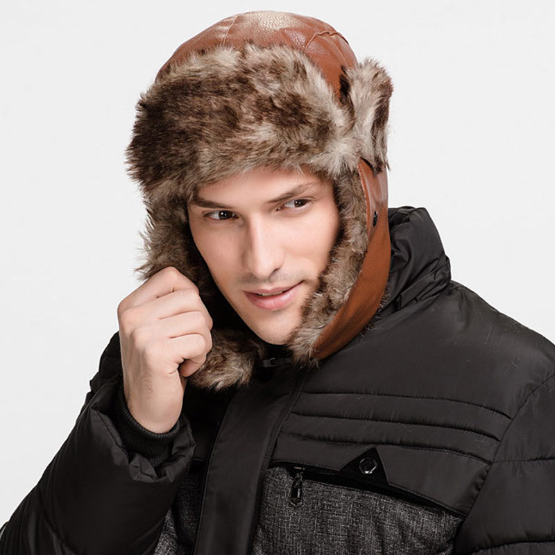 1 Pcs Women Men Cap Hat Warm Thicken Protect Ear Windproof for Winter Outdoor -MX8