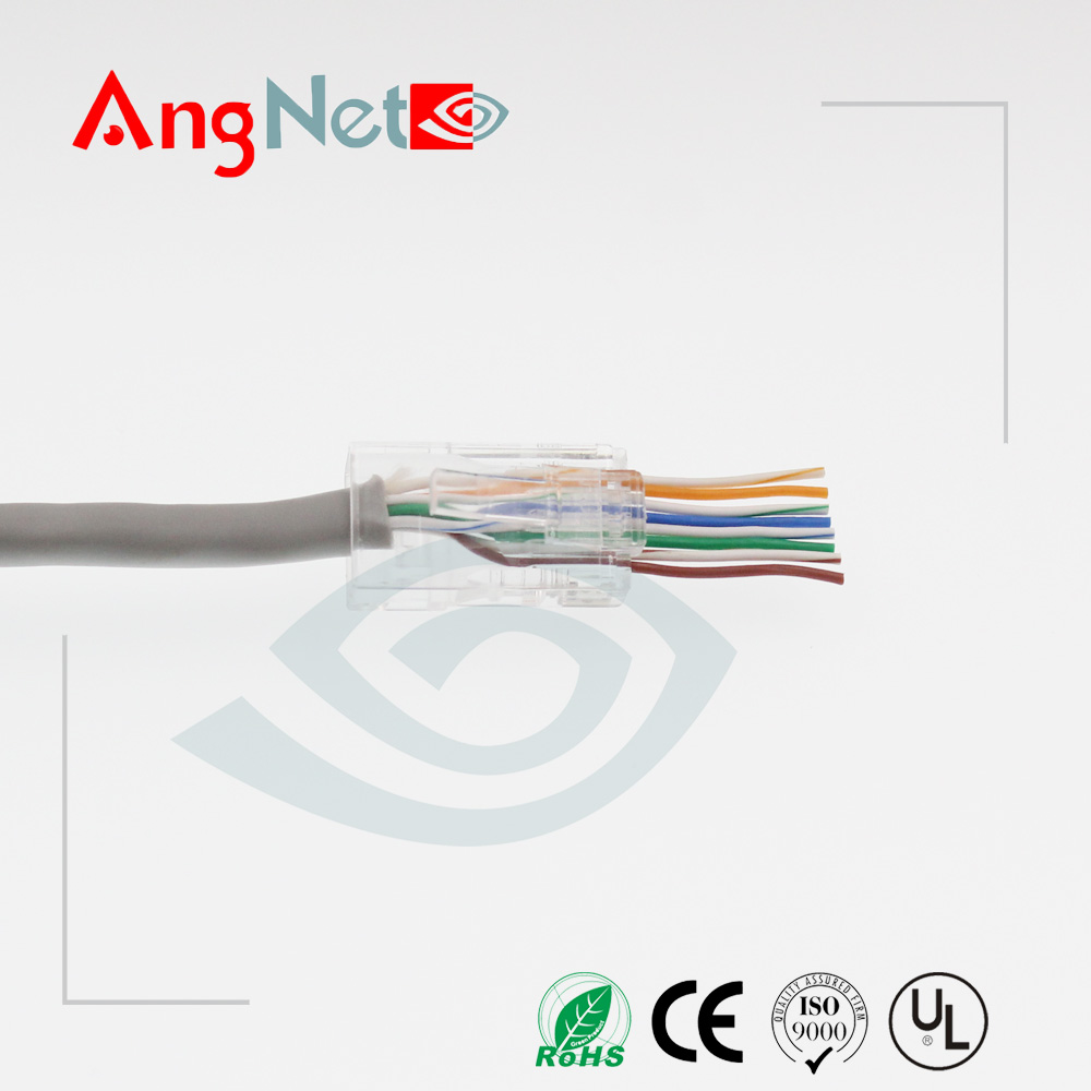 Cat5e Easy Rj45 Ez Lan Cable Ends Head How To Make Slide Through On Alibaba Group
