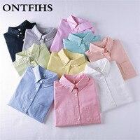 Vrouwen Blouse Nieuwe Casual BRAND Lange Mouwen Oxford Wit Shirt Vrouw Solid Office Shirts Uitstekende Kwaliteit Blusas Dame