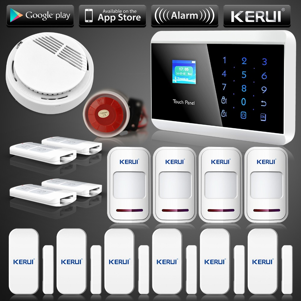 US Stock KERUI APP Control Wireless GSM PSTN Home House Alarm font b Security b font