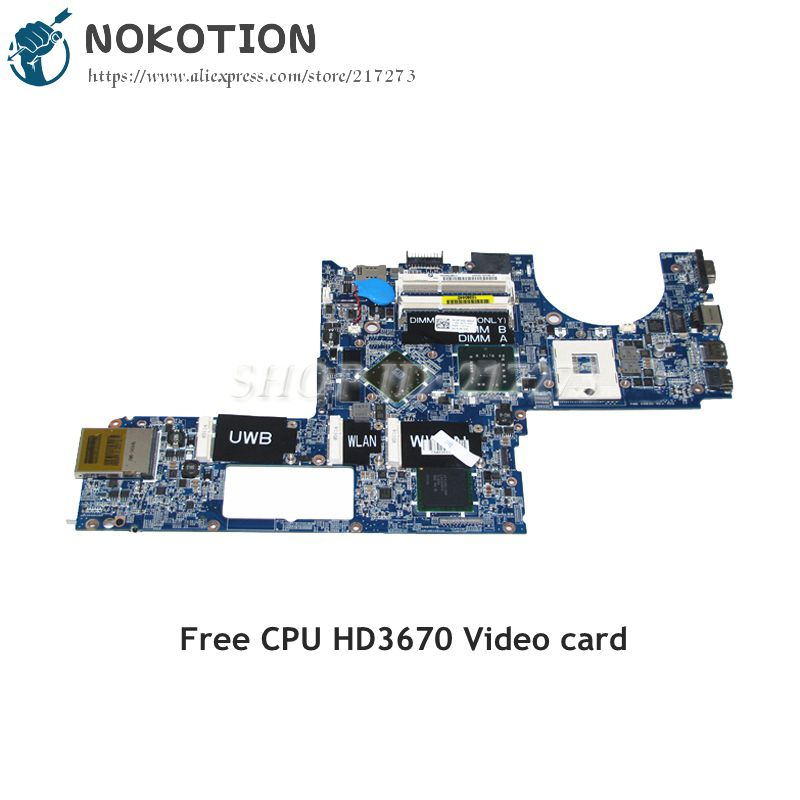 NOKOTION CN-0P743D 0P743D MAIN BOARD For Dell Studio XPS 1640 PP35L Laptop Motherboard DA0RM2MBAH0 HD3670 DDR3 Free CPU cn 0pu073 0pu073 suitable for dell xps m1330 laptop motherboard with g86 631 a2 upgrated graphic card