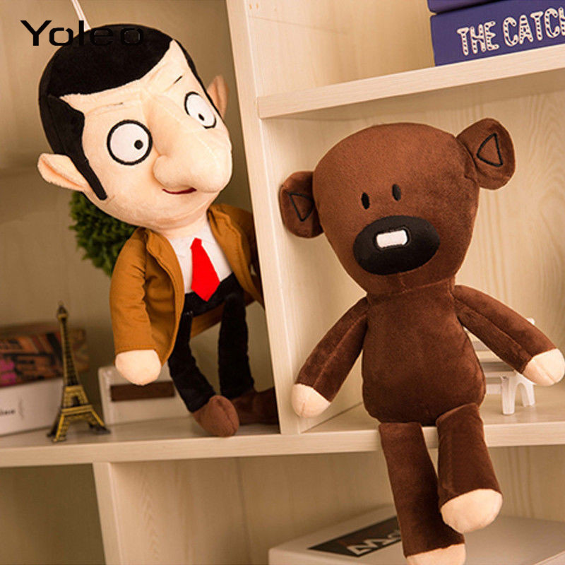 30cm Mr Bean Teddy Bear Plush Toys Movie Mr.Bean Cute Kawaii Stfuffed Toys For Children Birthday Present Gifts